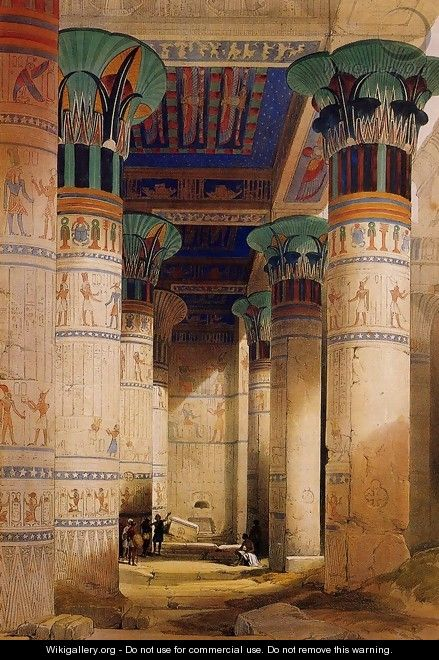 Portico of the Temple of Isis at Philae - David Roberts