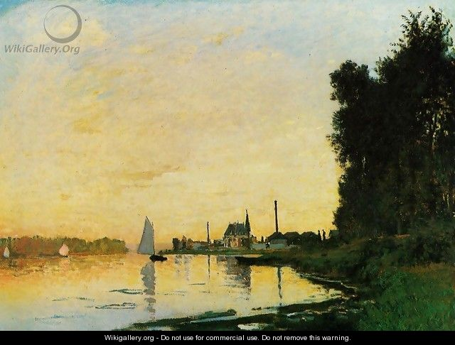 Argenteuil, Late Afternoon - Claude Oscar Monet