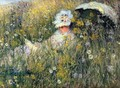 In the Meadow (detail) - Claude Oscar Monet