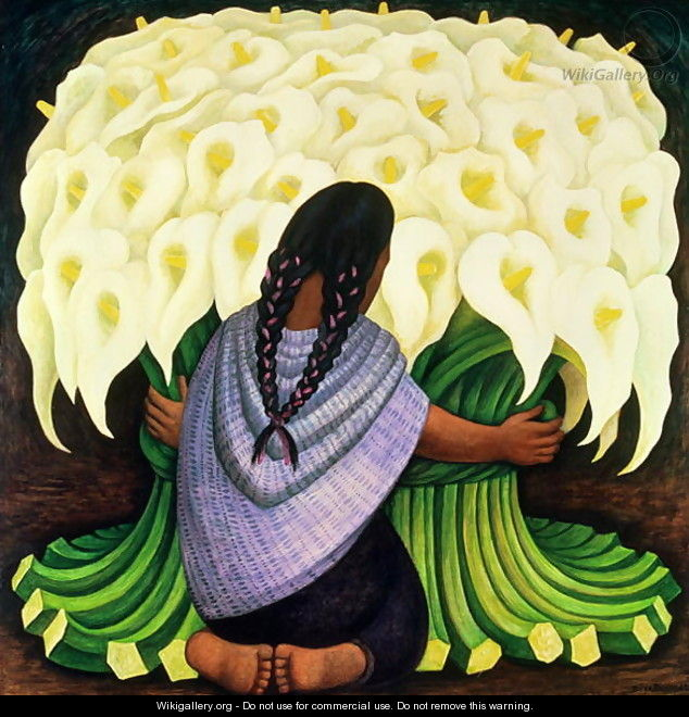 The flower seller 1942 diego rivera for Diego rivera s most famous mural