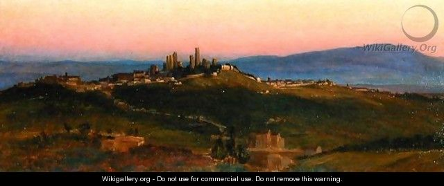 View of San Gimignano, 1898 - Edith Ridley Corbet