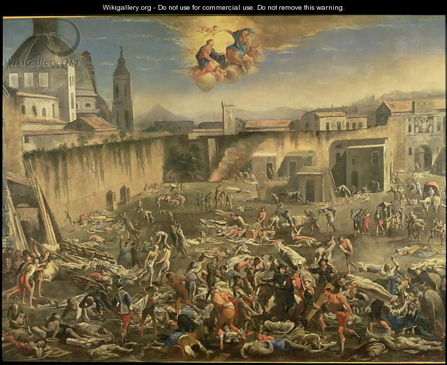 The Marketplace in Naples During the Plague of 1656 (2) - Carlo Coppola