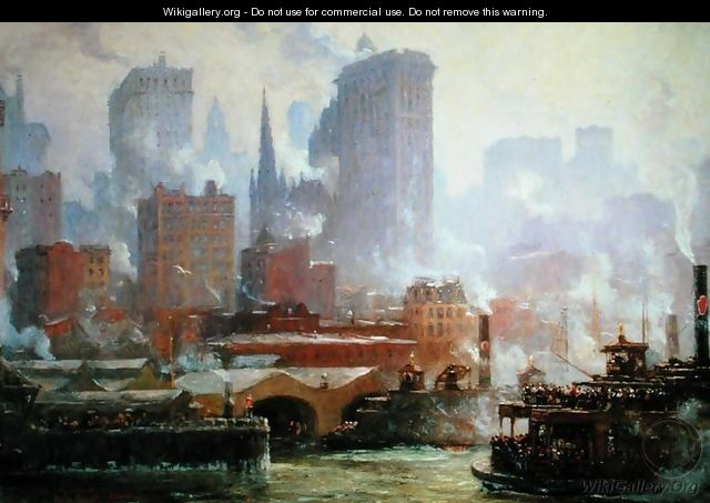 Wall Street Ferry Ship - Colin Campbell Cooper
