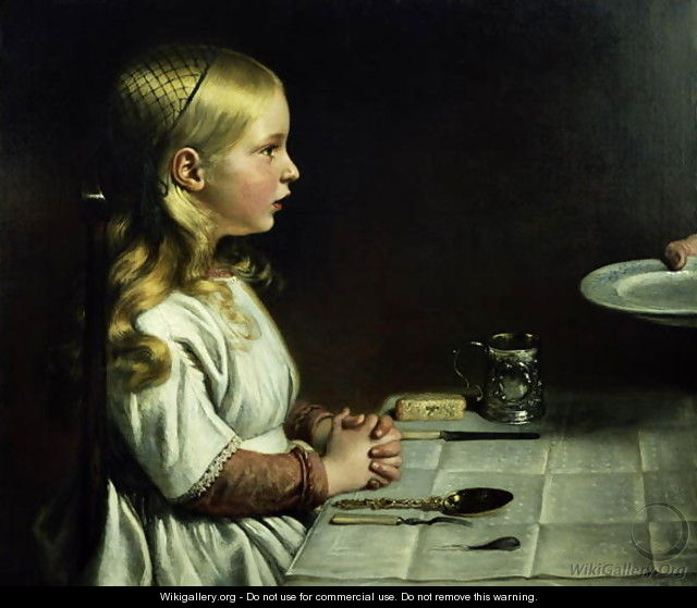 Florence Cope Saying Grace at Dinnertime - Charles West Cope