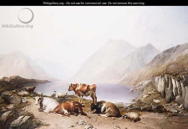 A Halt on the Drove, Loch Etive - Thomas Sidney Cooper