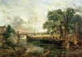 Sketch for 'View on the Stour, near Dedham' 1821-22 - John Constable