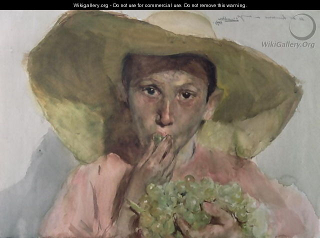 Boy Eating Grapes, 1890 - Joaquin Sorolla y Bastida