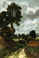 Oil Sketch of Stoke-by-Nayland - John Constable