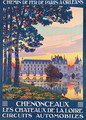 Poster advertising the Chateau de Chenonceau, c.1920 - Leon Constant-Duval