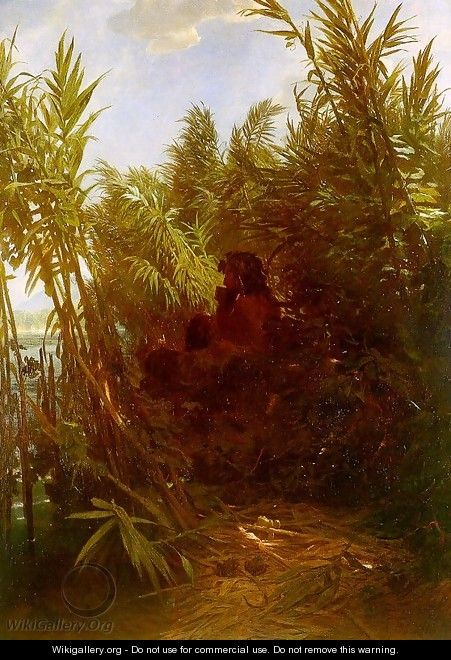 Pan Amongst the Reeds, 1856-57 (2) - Arnold Böcklin