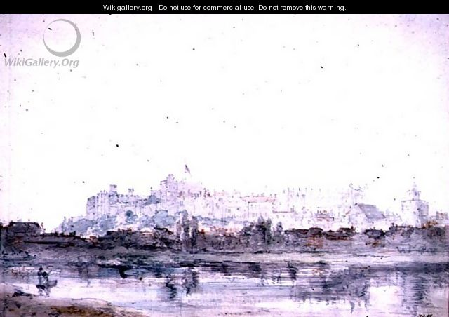 Windsor Castle from the River 2 - John Constable
