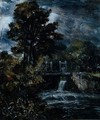 A sluice, perhaps on the Stour - John Constable