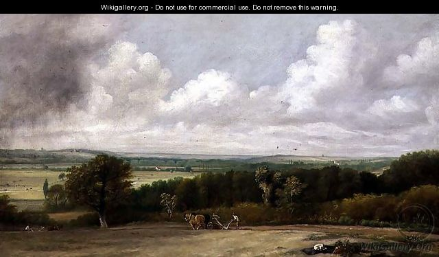 Landscape: Ploughing Scene in Suffolk, A Summerland 1824 - John Constable