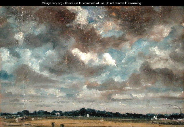 Extensive Landscape with Grey Clouds, c.1821 - John Constable