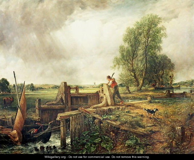 A Boat Passing a Lock 2 - John Constable