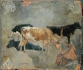 Study of Five Horned Cattle - John Constable
