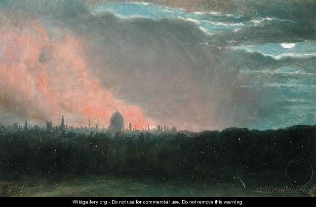 Fire in London seen from Hampstead - John Constable
