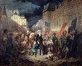 Madame Lamartine adopting the children of patriots killed at the barricades in Paris during the Revolution of 1848, 1848 - François Claudius Compte-Calix