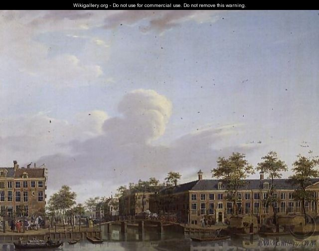 The Alms Houses on River Amstel, Amsterdam - Jan ten Compe