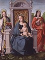Madonna and Child with St. Catherine and St. John the Evangelist, c.1530-40 - (attr. to) Comontes, Francisco de