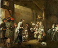 Cavaliers and Companions Carousing in a Barn - Edwart Collier