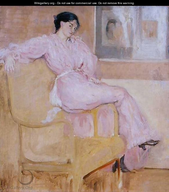 Mrs Conder in Pink - Charles Edward Conder