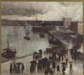 Departure of the Orient - Circular Quay, 1888 - Charles Edward Conder