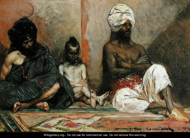Seated Arabs, 1877 - Benjamin Jean Joseph Constant
