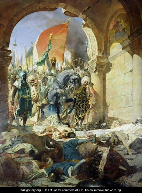 Entry of the Turks of Mohammed II into Constantinople, 29th May 1453, 1876 - Benjamin Jean Joseph Constant