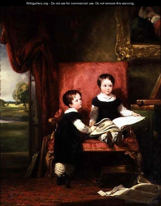 Lord Charles and Lord Thomas Pelham Clinton - William Collins