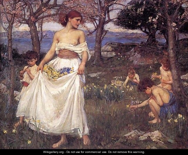 A Song of Springtime 1913 - John William Waterhouse