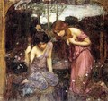 Nymphs finding the Head of Orpheus study 1900 - John William Waterhouse