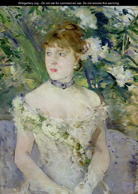 Young girl in a ball gown, 1879 - Berthe Morisot