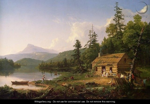 Home in the Woods, 1847 - Thomas Cole