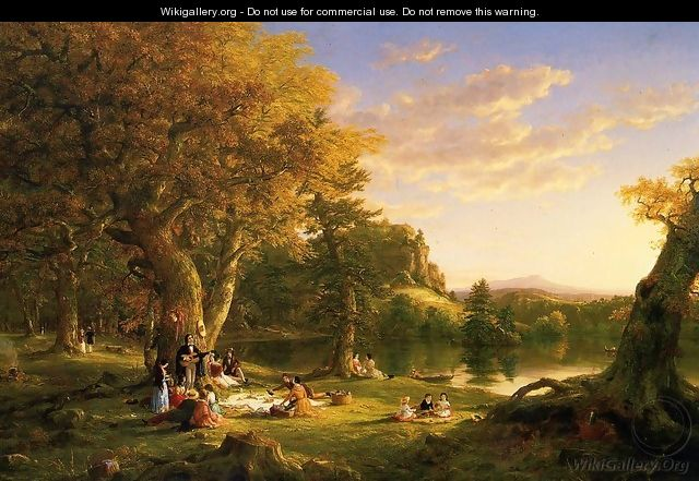 The Picnic 1846 - Thomas Cole