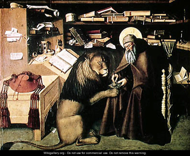 St. Jerome Removing a Thorn from the Lion