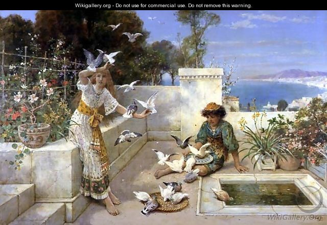 Children by the Mediterranean - William Stephen Coleman