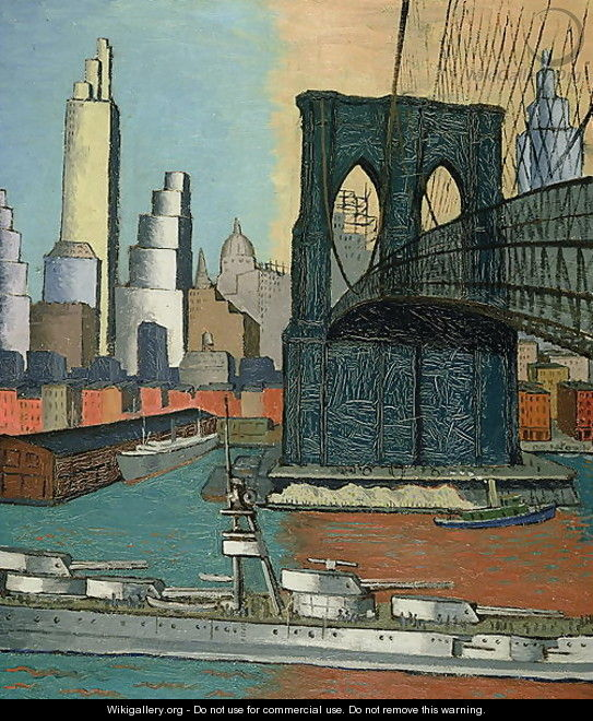 Bridge Tower, 1929 - Glenn O Coleman