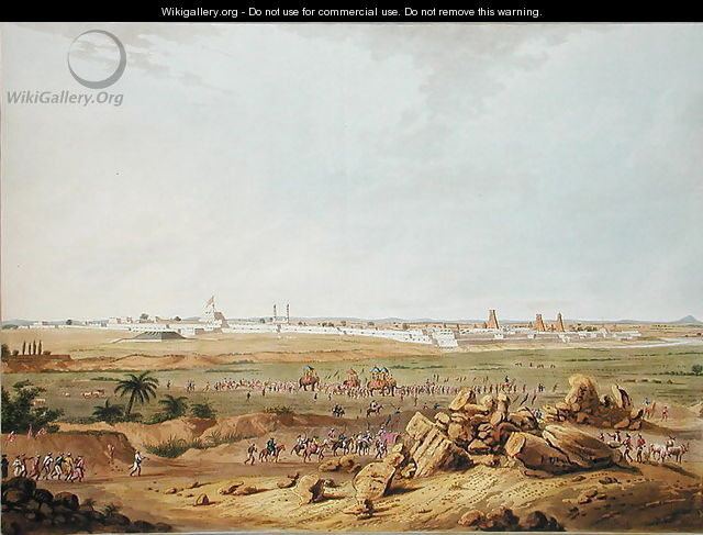 East View of Seringapatam on 15th May 1791, 1804 - (after) Robert H.Colebrooke