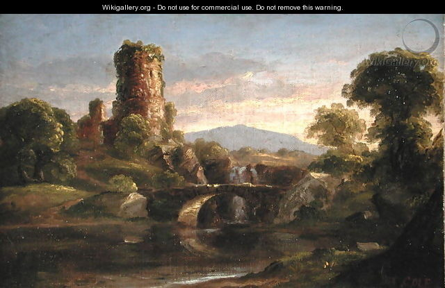 Castle and River - Thomas Cole