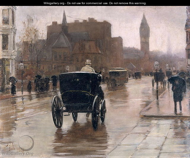 Columbus Avenue, Rainy Day, 1885 - Childe Hassam
