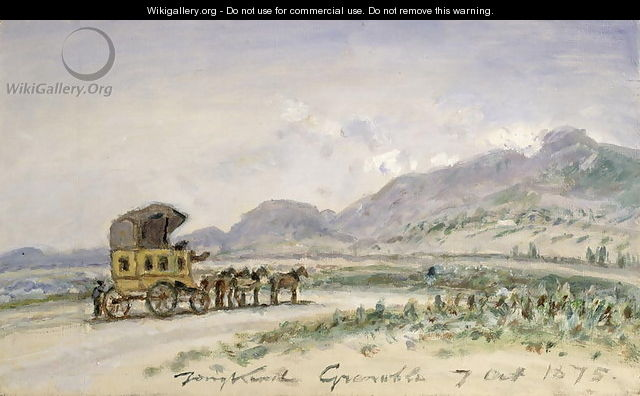 The Diligence from Grenoble to Sassenage, 7th October 1875 - Johan Barthold Jongkind
