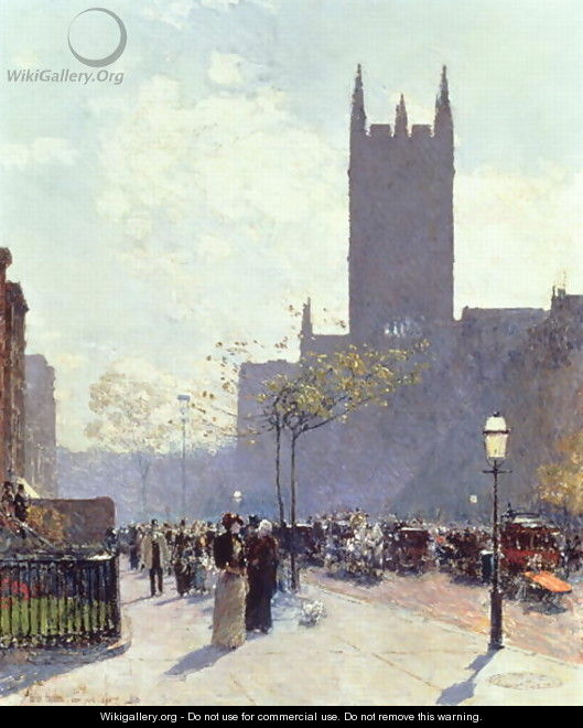 Lower Fifth Avenue, 1890 - Childe Hassam