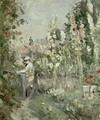 Young Boy in the Hollyhocks - Berthe Morisot