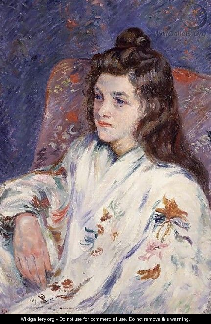 Portrait of Mlle. Guillaumin in a kimono, 1901 - Armand Guillaumin