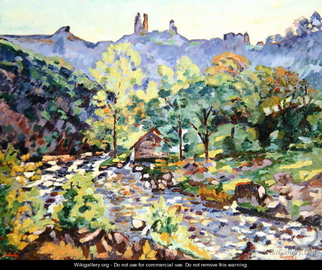 Ruins of the Chateau, Crozant, c.1905 - Armand Guillaumin