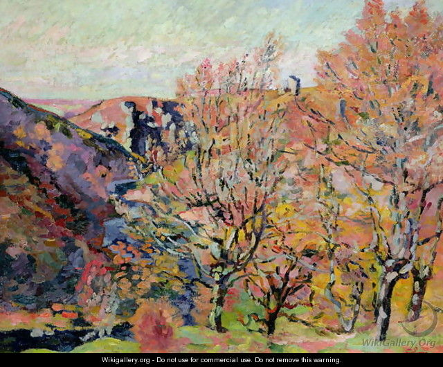 The Valley of the Sedelle in Crozant, c.1898 - Armand Guillaumin
