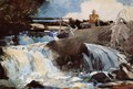 Casting in the Falls - Winslow Homer