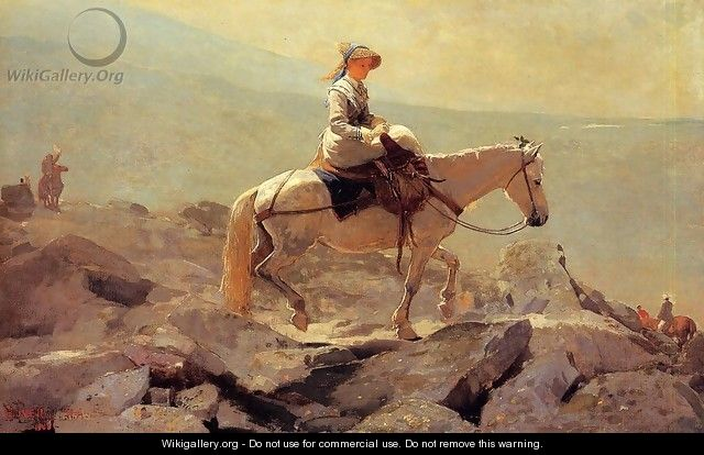 The Bridle Path, White Mountains - Winslow Homer