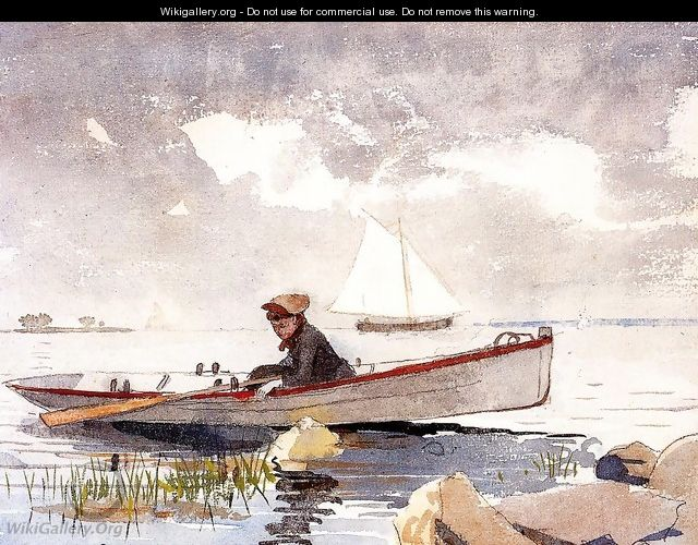 A Girl in a Punt - Winslow Homer